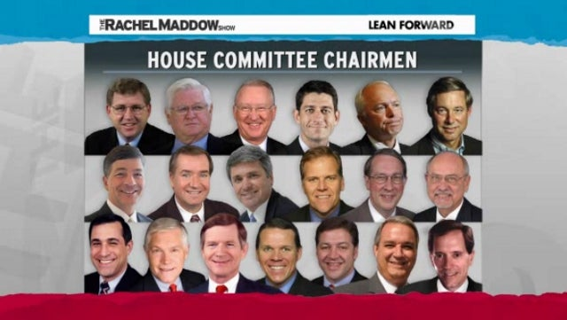 GOP Assembles All White Male Roster of House Committee Chairmen for Upcoming Congress