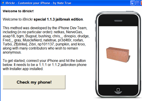 Jailbreak the iPhone 1.1.3 Firmware for Third Party Apps