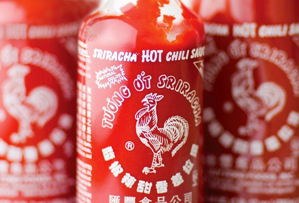 Coupla Things: Pierogies and Sriracha
