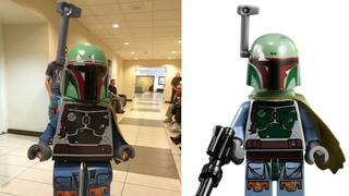 Dad Builds His Son A Damn Impressive Lego Boba Fett Costume