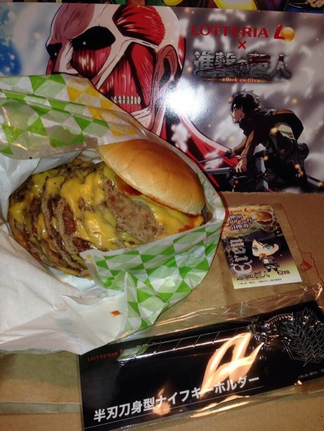 The Attack on Titan Burgers Look Utterly Disgusting