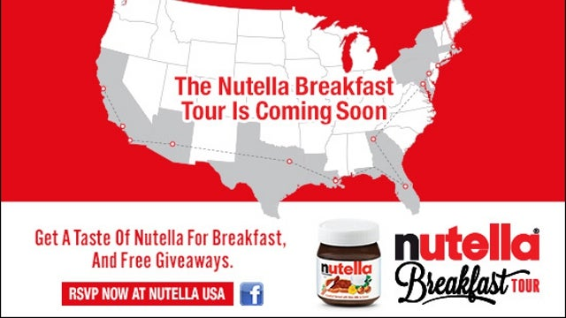 The Nutella Food Truck is Rolling Across America with Free Samples for All; Next Stop: NYC