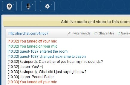 Tinychat Creates Disposable Multimedia Chat Rooms