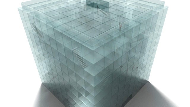 Architect looking for investors and/or victims for his giant see-through maze