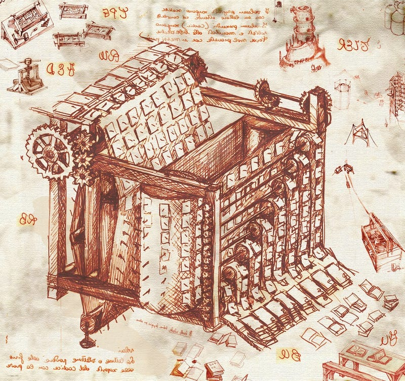 What if Leonardo da Vinci designed the Large Hadron Collider?