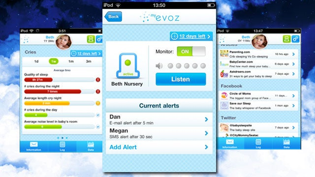 Evoz Turns Your iPhone, iPod touch, or iPad into a Baby Monitor