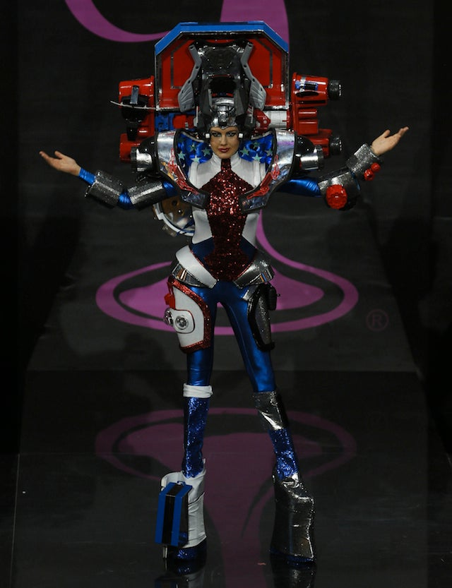 Miss USA Dressed as Optimus Prime Because America