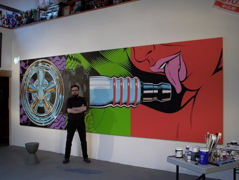 Yes, Please Lick the Plug: Coop's 78-Foot Painting
