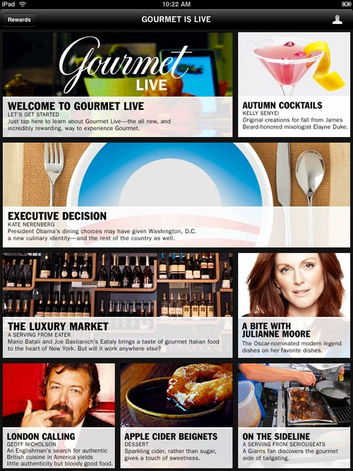 Gourmet Live: The Delicious New Gourmet Magazine For the iPad