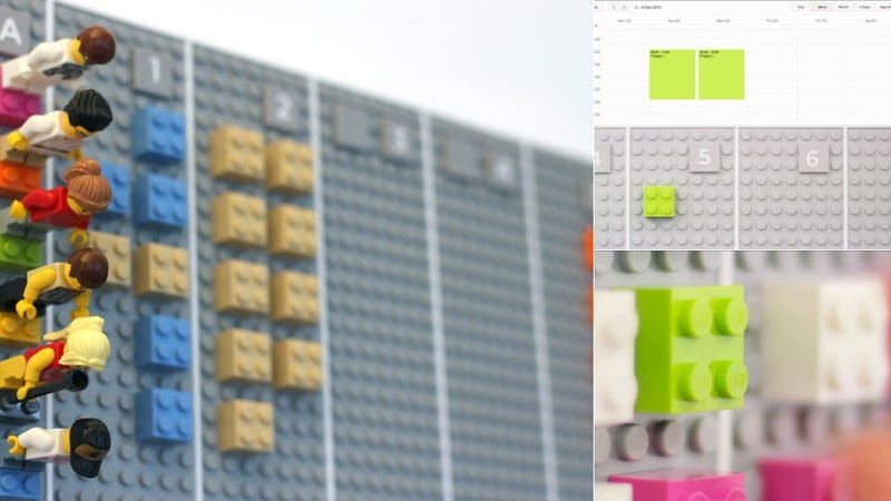 This Giant Lego Calendar Syncs Automatically With Your Smartphone