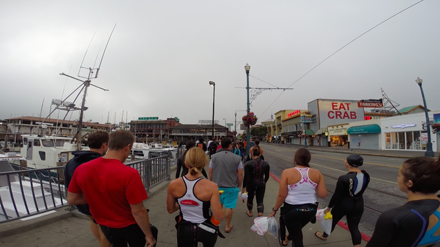 Swimming From Alcatraz to Shore With a GoPro on My Head