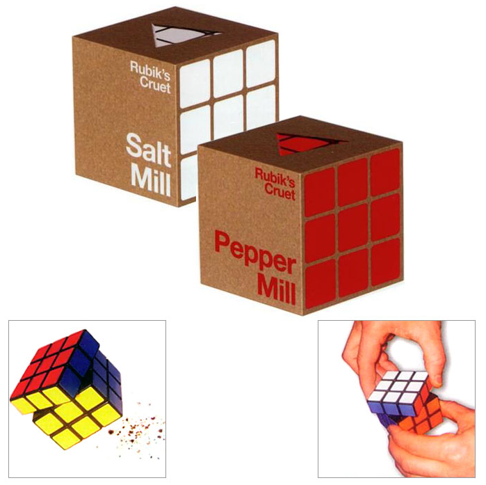 Rubik's Cube Salt and Pepper Mills Will Season Your Meat, If You're Intellectually Worthy