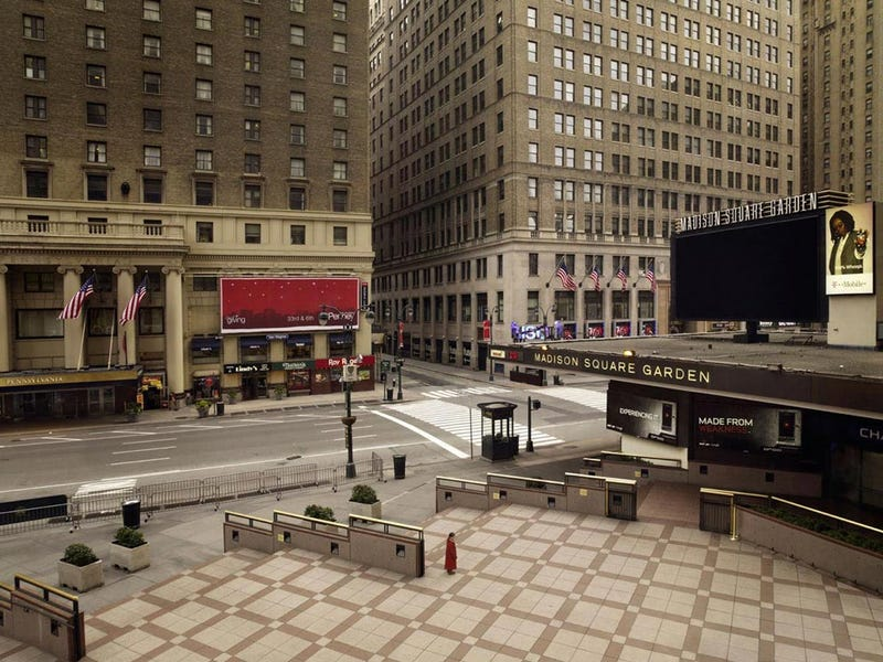 Photos of empty cities capture the silent first days of the apocalypse
