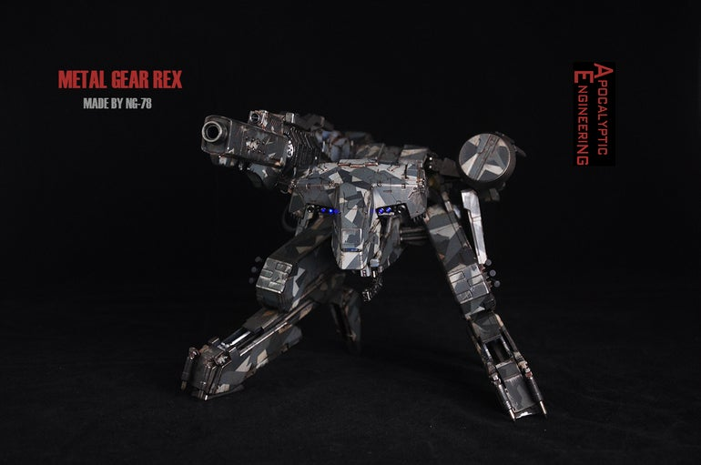 Custom Metal Gear Rex Has A Working Gun
