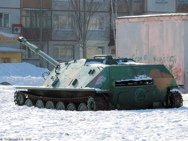 This Russian city uses old Soviet tanks as playgrounds