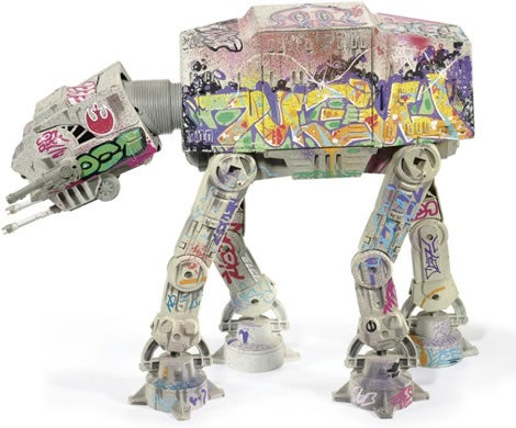 Graffiti'ed AT-AT Walker Up For Grabs at Christie's Auction