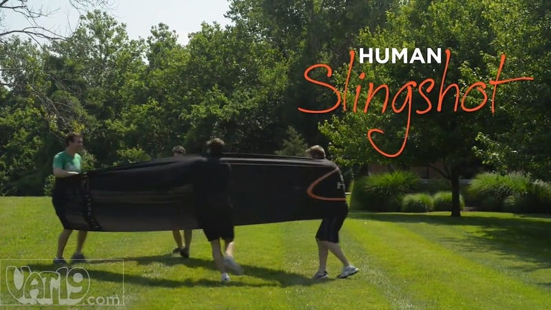 Amazing Human Slingshot 'Game' Will Help You Injure Your Friends, Puke