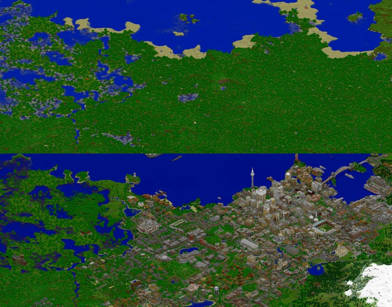 Years of Work in Minecraft, As Told in GIFs