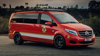 Here's The Sweet Mercedes Fire Truck Racing Van On Dubs You Asked For