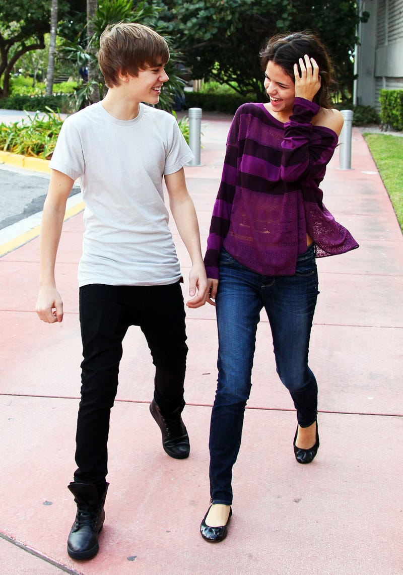 Bieber Woos Selena Gomez by 'Teasing and Laughing and Skipping Around'