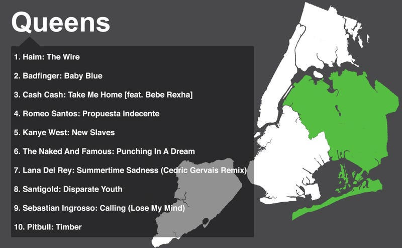 The 10 Most Popular Spotify Songs in Each NYC Borough