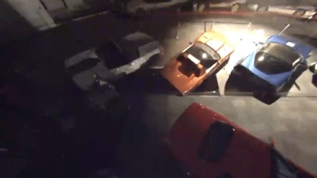 Here's The Video Of A Sinkhole Swallowing Those Classic Corvettes
