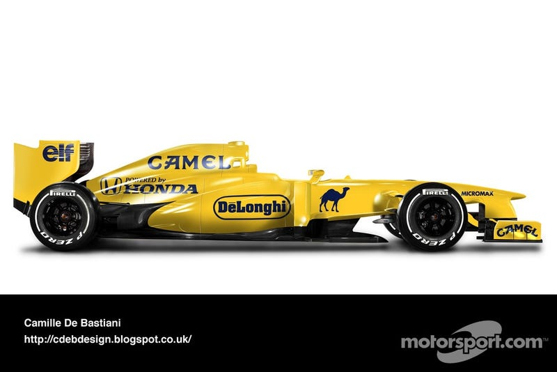 2014 F1 New-old Race liveries