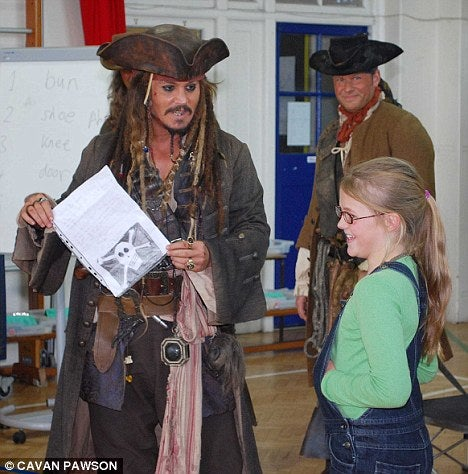 Johnny Depp Makes a Surprise Appearance at London School Dressed as Capt. Jack Sparrow
