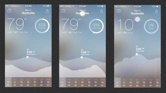 Fresh Air is a Simple, Beautiful Weather App That Shows Just the Basics