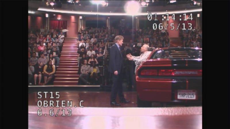 Watch Conan O'Brien Test Out His Dash Cam