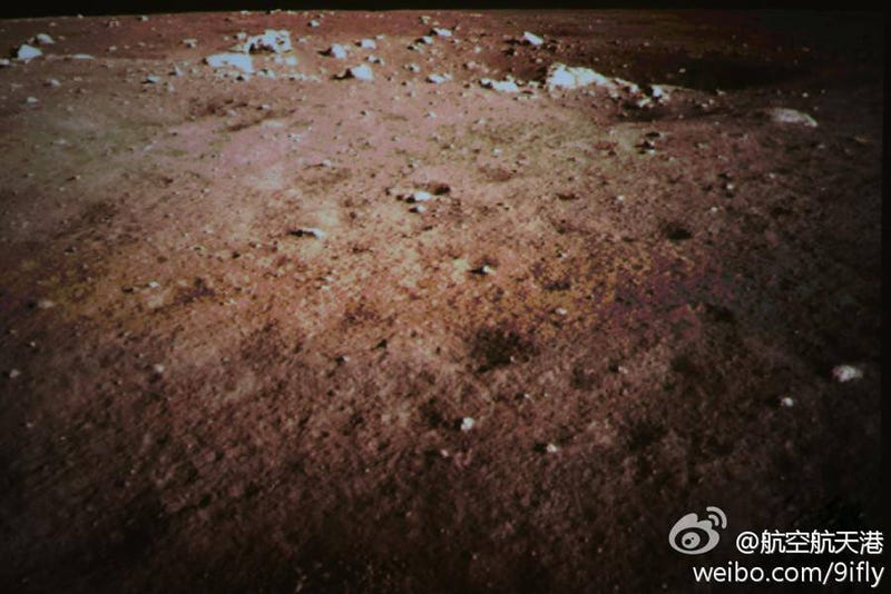 The Chinese Rover's First Moon Photos Are Here