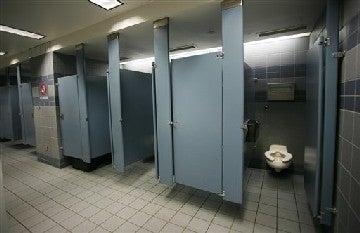 Sex in a bathroom stall Nude Photos 39