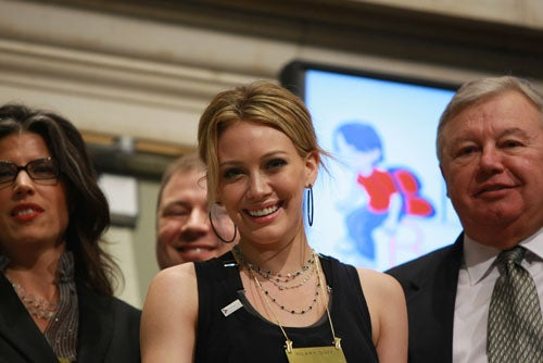 Hilary Duff At The Stock Exchange: Get Me Out Of Here. Please.