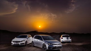 Volkswagen Golf R vs BMW M135i vs Mercedes A 45 AMG