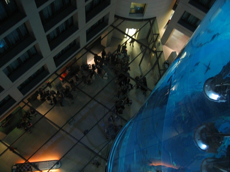 Aquadom Is Largest Cylindrical Aquarium on the Planet