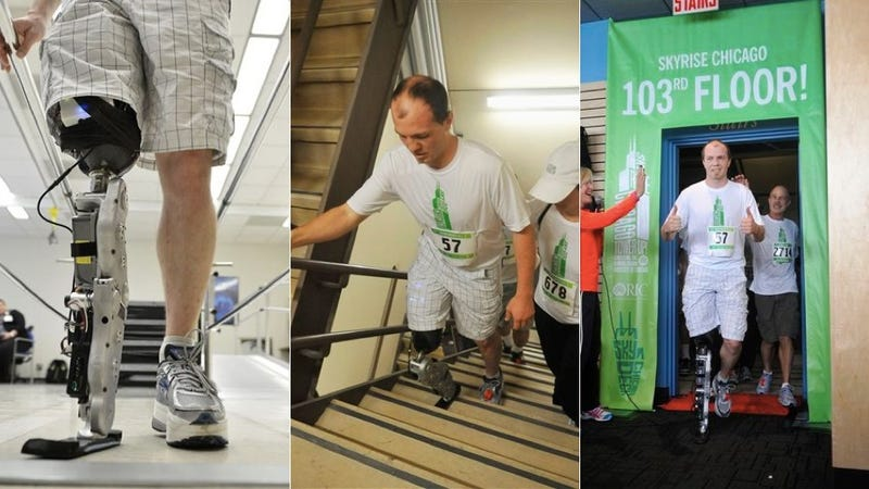 Amazing Dude Climbs 103 Floors on a Brain-Powered Bionic Leg