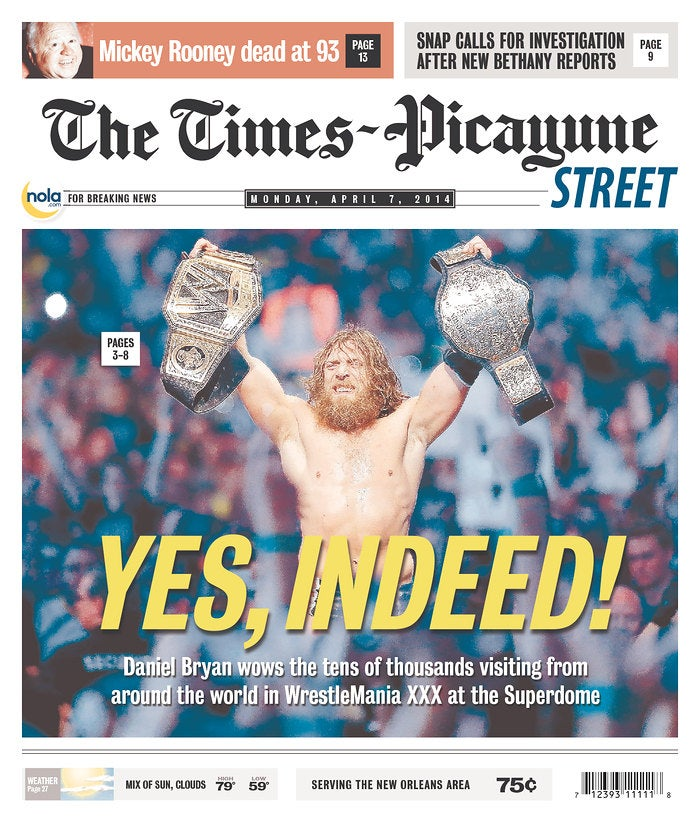 WrestleMania Gets New Orleans Newspaper's Front Page