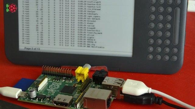 Hack a Kindle Into a Minimal Computer with a Raspberry Pi