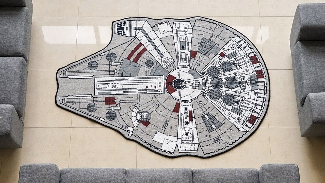 no room is truly decorated without a millennium falcon rug With balkon teppich mit lego star wars tapete