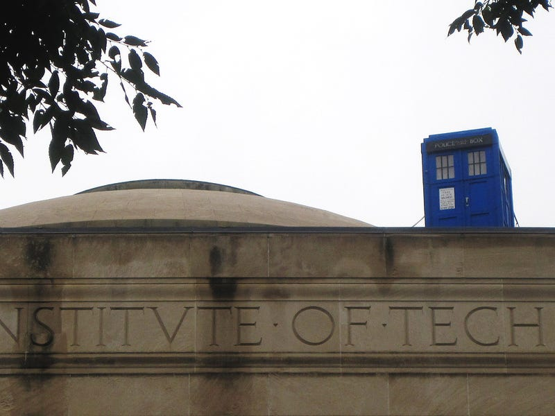 What is that police box doing on top of a building at MIT?