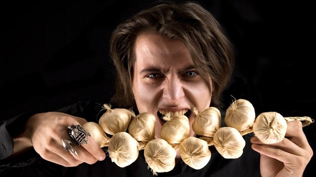 Probably the only medical study of the effects of garlic on vampires