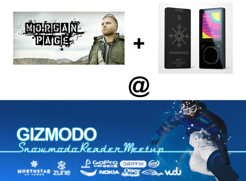 Zune Party Featuring Morgan Page at Snowmodo