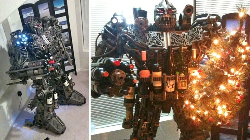 Can You Believe Someone's Selling This Life-Size, Hand-Made Transformers Wine Rack on Craigslist?