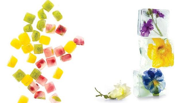 Freeze Fruit and Herbs in Ice Cubes for Flavorful, Non-Diluted Chilled Drinks