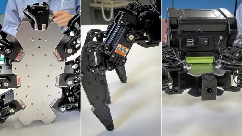 Hexapod Robot Manages to Make Innocent Little Waves Looks Six Times More Creepy