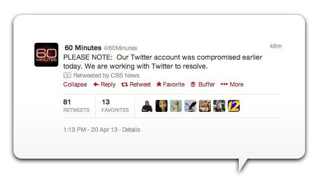 Whoops, CBS Got Twitter-Hacked And Spat Out Virus-y Links (Update: There's More!)