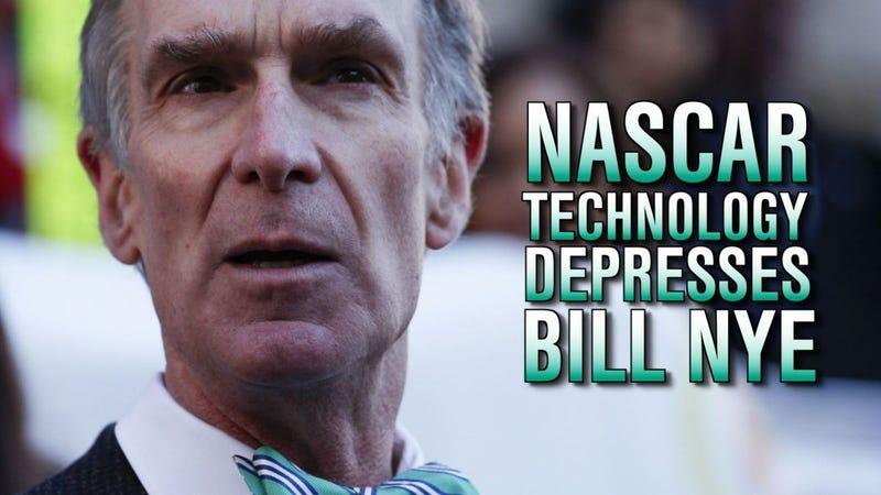Bill Nye The NASCAR Bummer Guy
