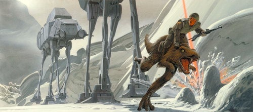 exclusive Empire Strikes Back concept art