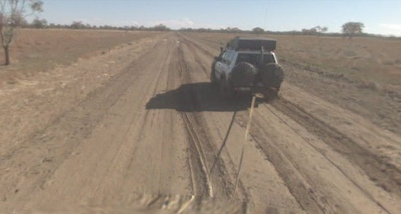 Google Street View Car Stuck In Mud Down Under