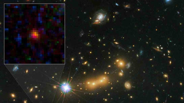 This pocket-sized galaxy may be the most distant yet